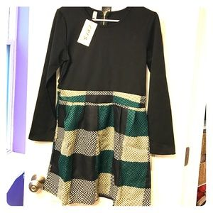 Dresses & Skirts - Black & Plaid Dress