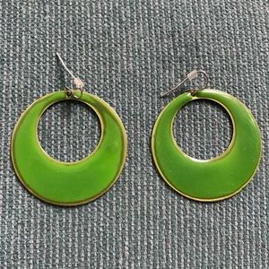 NEVER WORN! Lime green hoops!