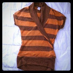 NWOT Surplice knit top