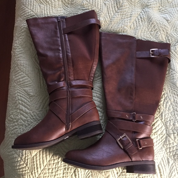 Extra Wide Calf Brown Boots From Torrid