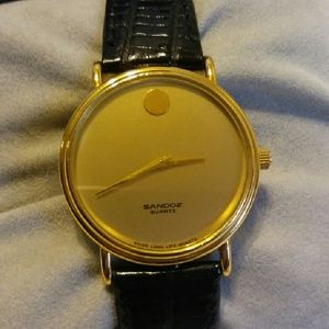 Sandoz Swiss mens watch, vintage super rare !