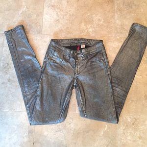Parasuco Denim - Parasuco Silver/Black Metallic Skinny Jeans