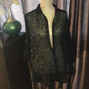 High low sheer blouse