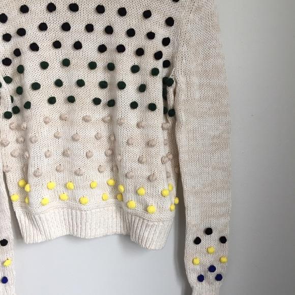 Anthropologie Sweaters - Colorful Pom Pom Sweater