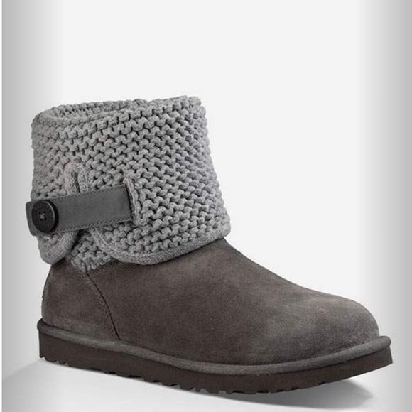 12fbec2eaa6 UGG Shaina knit boots in grey, size 7