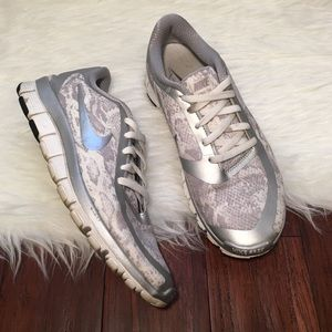 Nike Shoes - | Nike | Free 5.0 Gray and White Leopard Sneakers