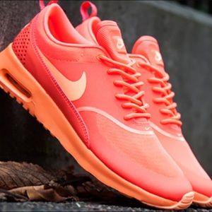 Neon Orange Nike Air Max Thea Limited Edition Sz 9