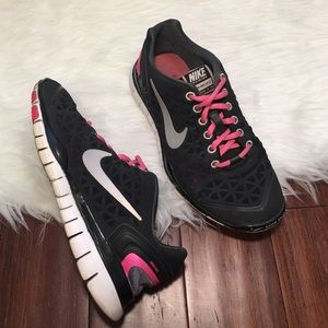 Nike Shoes - | Nike | Free Fit 2 Black and Pink Sneakers