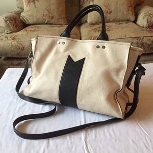 Aimee Kestenberg Handbags - AIMEE KESTENBURG Black and Cream Handbag