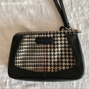 Bosca Handbags - Bosch Houndstooth & leather tote wristlets purse