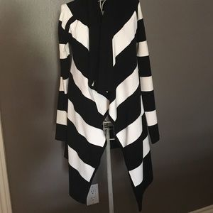 NWT Black and white cardigan