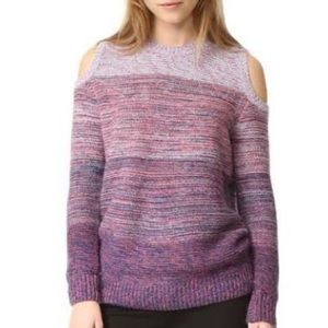 Sweaters - Ombré cold shoulder sleeves sweater