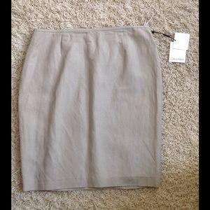Calvin Klein Khaki Pencil Skirt