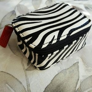 Handbags - Zebra Travel Pill Box