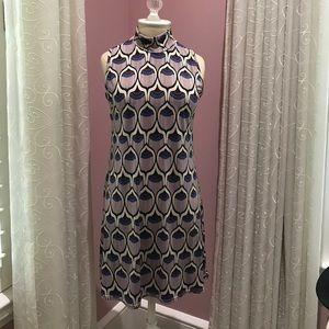 Dresses & Skirts - Adorable high neck 70's Geo shift dress
