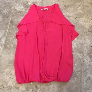 Collective Concepts Tops - Collective Concepts Hot Pink Flowy Top