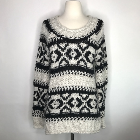 80% off Free People Sweaters - Free People Silver Reed Fair Isle ...