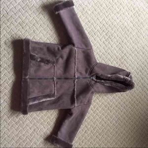 Widgeon brown faux fur coat 3t like new