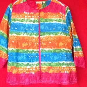Choices Colorful size L 100% cotton jacket top