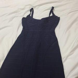 Herve Leger Dresses & Skirts - Herve Leger dark dark purple dress. Maxi. XS