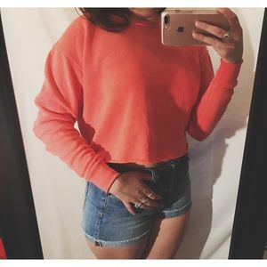 American Eagle Outfitters Tops - Pink American eagle sweater crop top
