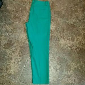 Larry Levine Pants - Larry Levine Ankle/crop green pants