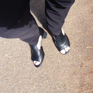 Camper Shoes - Camper black leather sandals size 6 (36).