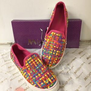 Misbehave Shoes - Misbehave Multi-Color Rainbow Slip On Sneakers
