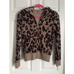 Juicy Couture Jackets & Blazers - Juicy Couture leopard velour track jacket S