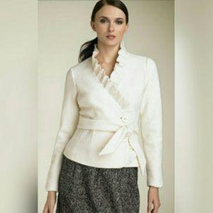 Classiques Entier Jackets & Blazers - 🎉Sale🎉{Classiques Entier} Wool Ruffle Jacket