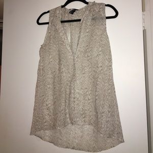 Light grey zebra tank top blouse