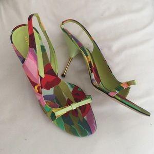 Missoni Shoes - Missoni Open Toe Floral Bow Heels 37 7
