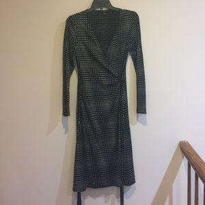 Banana Republic Silk and Wool Wrap Dress