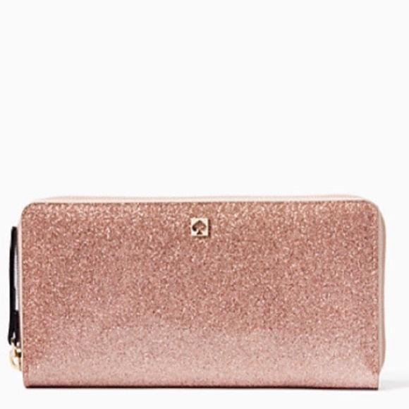 d78f50dd0c6 KS glitter bug rose gold zip wallet valentine