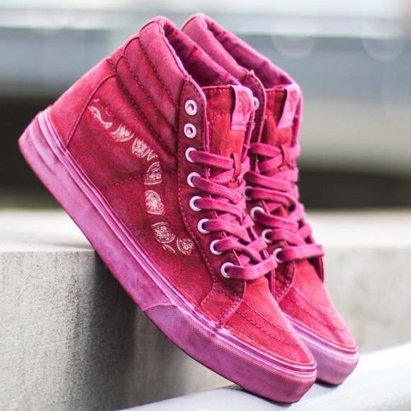 Vans Other - Vans Red Over Washed Hightops