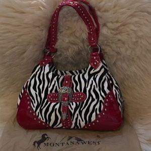 Montana West Handbags - Montana West Zebra Handbag