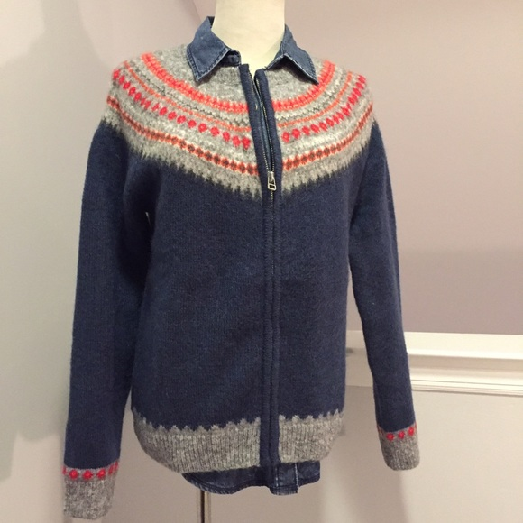 31% off GAP Sweaters - GAP Fair Isle Zip Cardigan from Kristen's ...