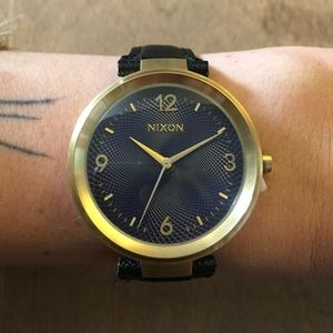 Nixon Accessories - Nixon Chameleon Leather- Gold/Navy