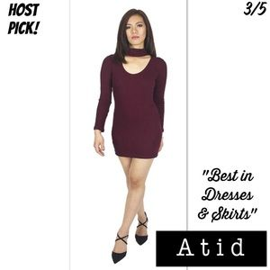 Atid Clothing Dresses & Skirts - ⭐️⭐️⭐️⭐️⭐️ RIBBED CHOKER DRESS
