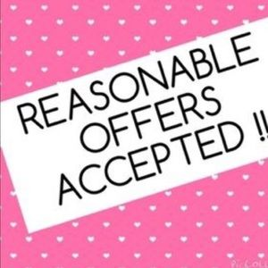 Reasonable offers accepted.
