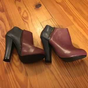Shoemint Shoes - Two Toned Heeled Booties