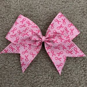 Accessories - Breast Cancer Awareness Pink Cheer Bow