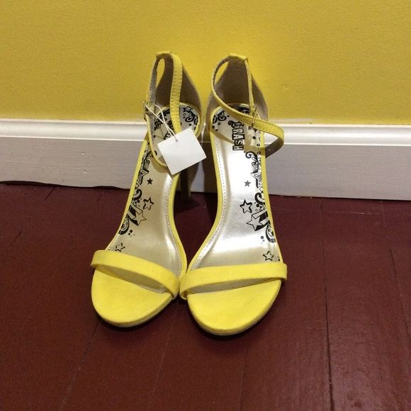 782b59150a62 All Yellow Brash Women s Kailey Ankle Strap Heel