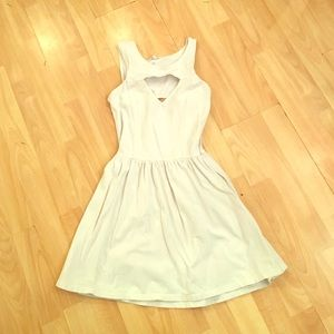 Brandy Melville white cut out dress
