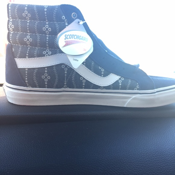 Vans Shoes - Vans Indigo Leather Hightops