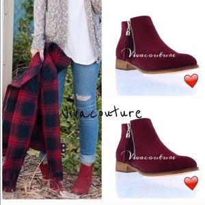 Vivacouture Shoes - Last One ! Chic Fringe Detail Booties