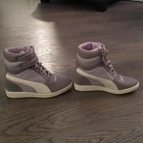Puma hidden wedge sneakers. Never worn. Brand new!