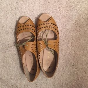 Shoes - Peep Toe Oxford Flats