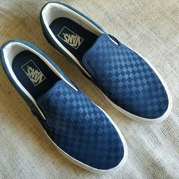 74aae3a15b Mens Like New Suede Leather Checkered Vans Slip On.  M_587d60836a58302e580253e4