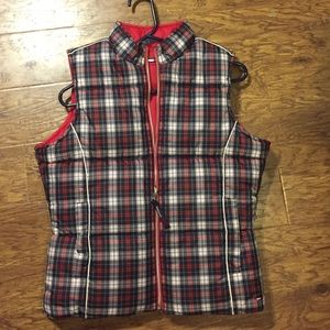 Tommy Hilfiger Jackets & Blazers - Tommy Hilfiger Reversible Plaid Red Puffer Vest